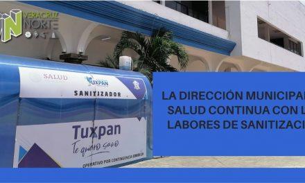 LA DIRECCIÓN MUNICIPAL DE SALUD CONTINUA CON LAS LABORES DE SANITIZACIÓN
