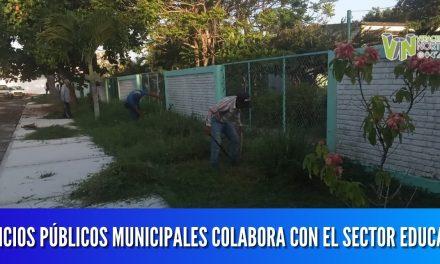 SERVICIOS PÚBLICOS MUNICIPALES COLABORA CON EL SECTOR EDUCATIVO