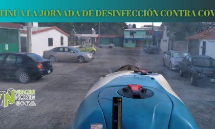 CONTINÚA LA JORNADA DE DESINFECCIÓN CONTRA COVID19