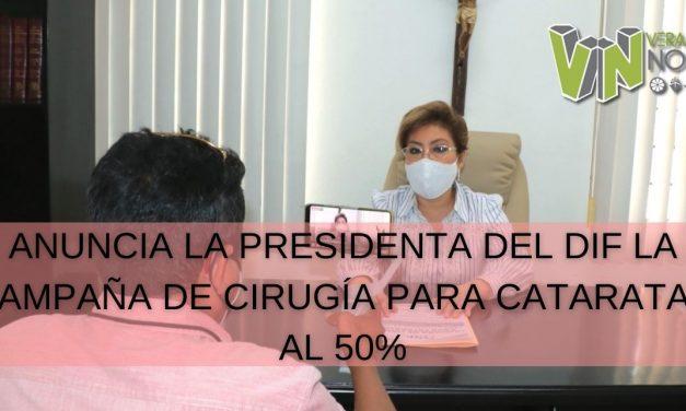 ANUNCIA LA PRESIDENTA DEL DIF LA CAMPAÑA DE CIRUGÍA PARA CATARATAS AL 50%