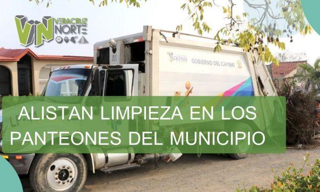 ALISTAN LIMPIEZA EN LOS PANTEONES DEL MUNICIPIO